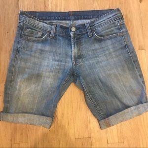 7 cutoff denim shorts
